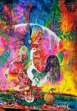cock and life African Oil Paintings